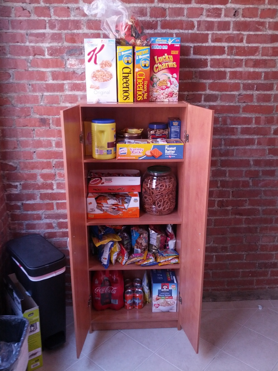 Snack Cabinet In The Den!